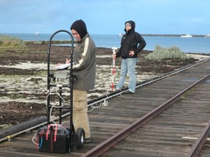 DGPS recording of Port MacDonnell Jetty