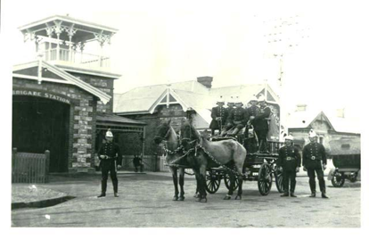 The Colony's first Fire Brigade 1919 (photograph from the Unley Museum Collection)