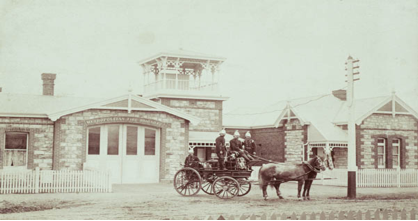 Unley Fire Station (photograph from the Unley Museum Collection)
