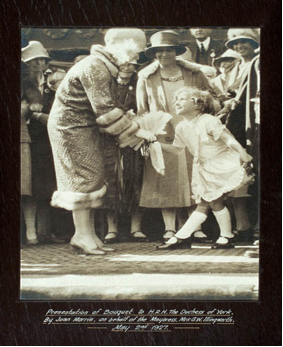 Duchess of York, Queen Mother 1927 (photograph from the Unley Museum Collection)