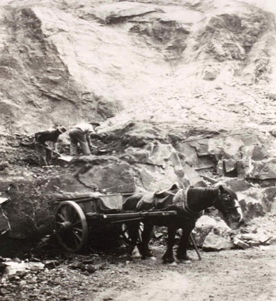 Glen Osmond Quarry 1913 (Courtesy of the Unley Museum)