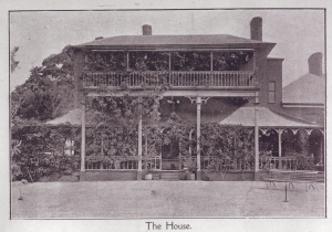 Photograph of Oaklands Estate circa 1884 courtesy of David Jarman