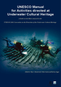 UNESCO Manual governing management activities for Underwater Cultural Heritage