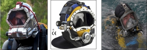 Different diving masks