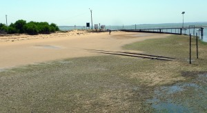 Figure 4: The old slipway in between the two jetties at Rhyll. Photograph by Bill Jeffery