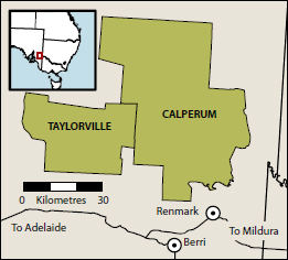 Calperum and Taylorville area