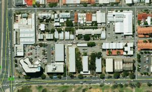 SW corner of Adelaide