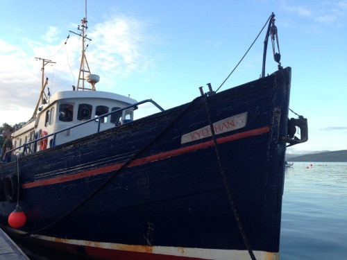Figure 1. DVS Kylebhan is a 20 metre (67 feet) trawler converted to a dive charter boat. It can accommodate 12 passengers and is very comfortable for the SAMPHIRE team of six plus the two crew (Photo by: Chelsea Colwell-Pasch)