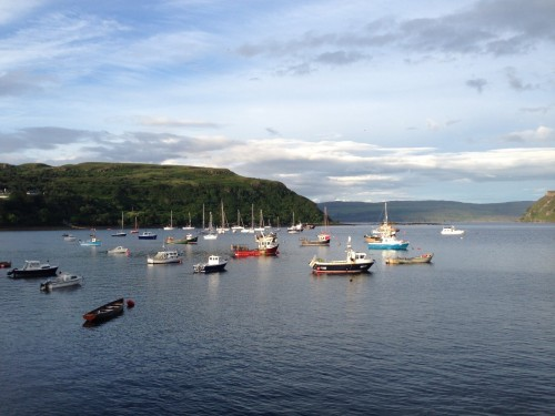 Figure 14. At dock in Portree, Isle of Skye after a long steam from Loch Bay (Photo by: Chelsea Colwell-Pasch).