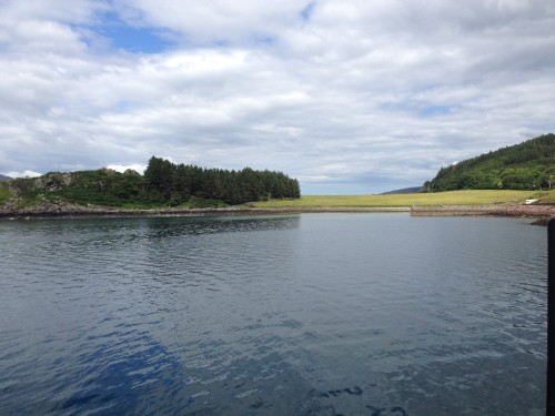 Figure 16. Clachan Harbour on the Isle of Raasay where the SAMPHIRE team was investigating the area for submerged prehistoric sites (Photo by: Chelsea Colwell-Pasch).