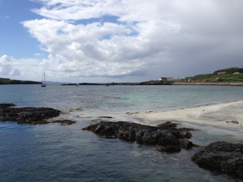 Figure 7. Galmisdale Harbour on the Isle of Eigg where the first site survey for Project SAMPHIRE was conducted (Photo by: Chelsea Colwell-Pasch).
