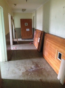 Ward C hallway of doors