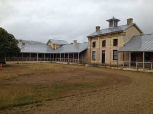 Willow Court Barracks, Royal Derwent Hospital complex. View from right hand veranda.