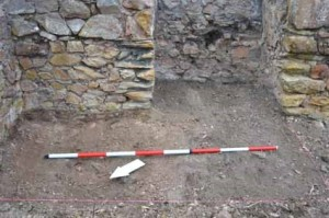 Trench A after rubble was cleared away